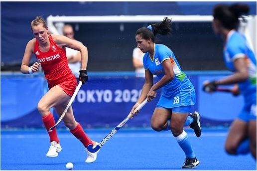 ہندوستانی خواتین ہاکی ٹیم گریٹ برٹین سے 1-4 سے ہاری