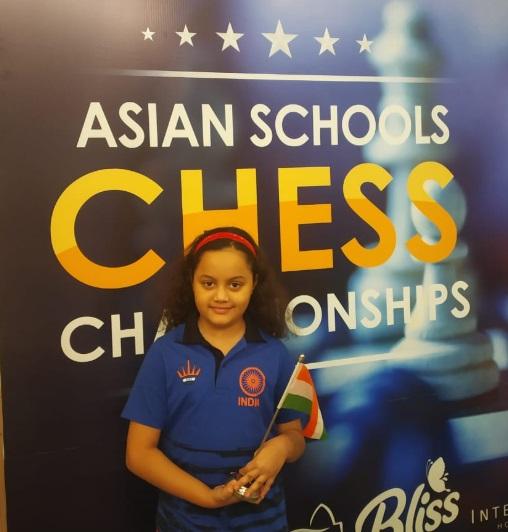 آٹھ سال کی عمر میں عرشیہ کا کمال، ایشین اسکول شطرنج چیمپئن شپ جیتا