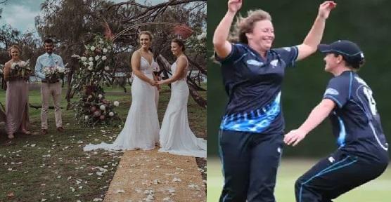 دو خاتون کھلاڑیوں نے آپس میں کی شادی