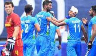 ہندوستانی مردوں کی ہاکی ٹیم نے اسپین کو 0-3 سے شکست دی
