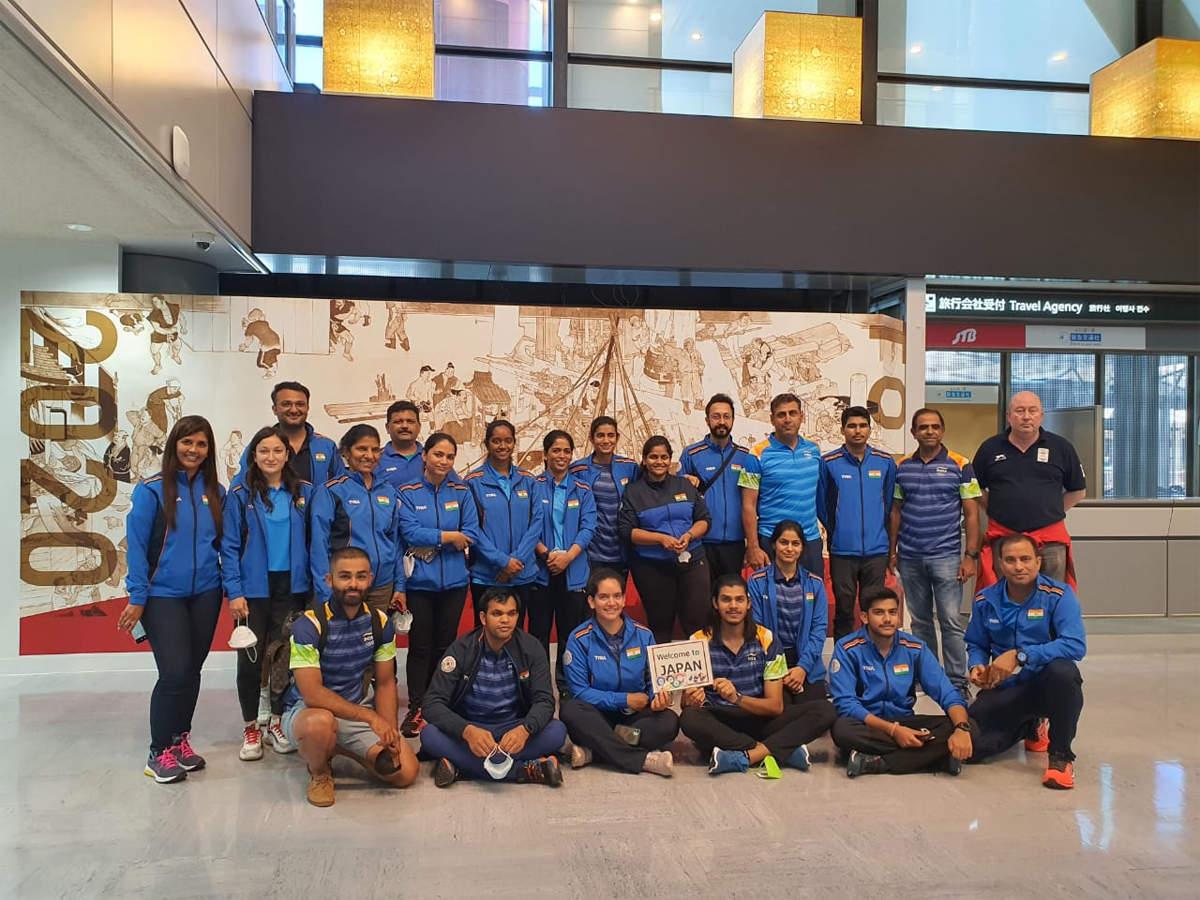 نشانہ بازی کی ہندوستانی ٹیم ٹوکیو پہنچی