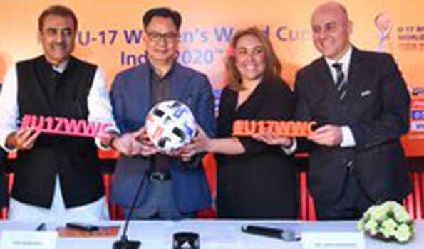 ہندستان کے 5 شہروں میں انڈر -17 خاتون ورلڈ کپ فٹ بال ٹورنامنٹ