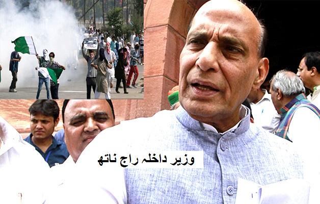کشمیر پر وزیر داخلہ راج ناتھ کا بیان کہا،