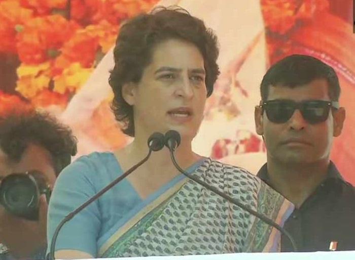 صرف کانگریس ہی مستحکم ہندوستان کی تعمیر کرسکتی ہے: پرینکا