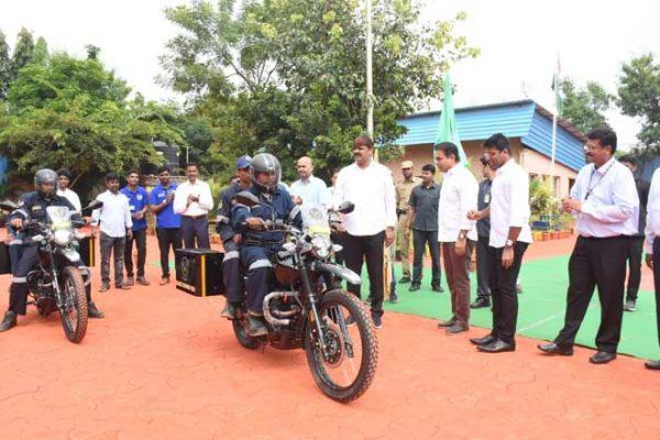 حیدرآباد کے ڈیزاسٹر رسپانس فورس کے بیڑہ میں ٹو وہیلرس کا اضافہ