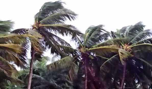 اوڈیشہ کے بالیشور اور دھرما میں سمندری طوفان یاس کا لینڈ فال