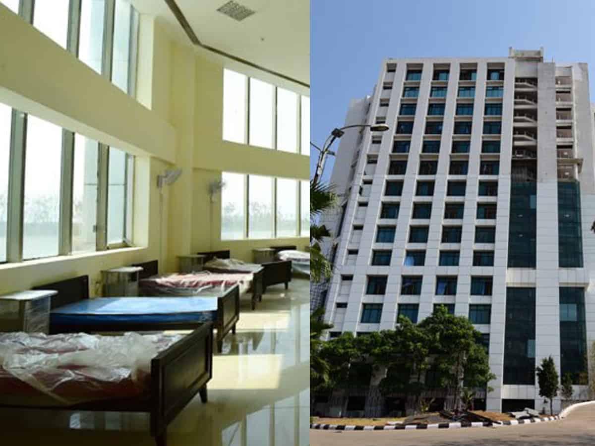 حیدرآباد میں 20دنوں سے کم وقت میں 13منزلہ اسپورٹس ٹاور کواسپتال میں تبدیل کردیاگیا