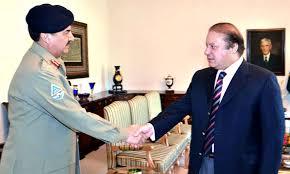 پاکستان کے وزیراعظم سے آرمی کے چیف نے ملاقات کی