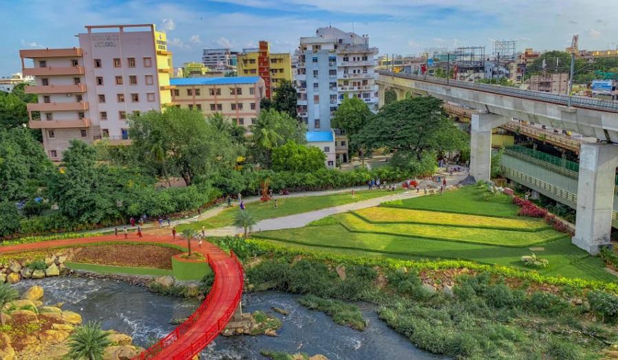حیدرآباد میں رین گارڈن کا قیام