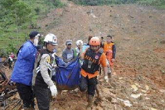 انڈونیشیا میں زمین کھسکنے سے آٹھ افراد ہلاک