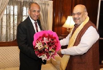 گورنر ای ایس ایل نرسمہن کی دہلی میں امیت شاہ سے ملاقات