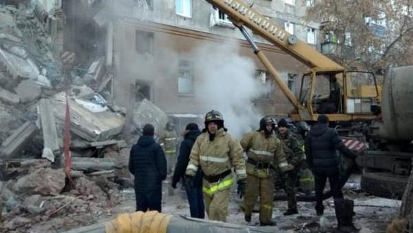 روس میں گیس دھماکے سے عمارت تباہ ،4 افراد ہلاک