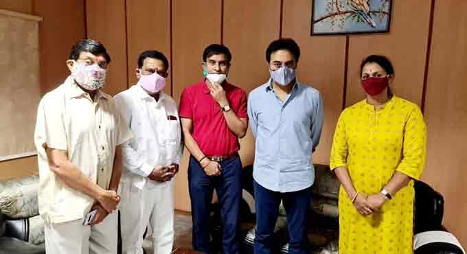 سابق اولمپین جے جے شوبھا نے کے ٹی آر سے ملاقات کی