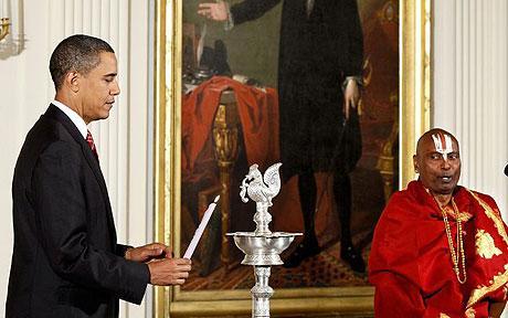 اوباما نے وائٹ ہاؤس میں دیوالی منائی