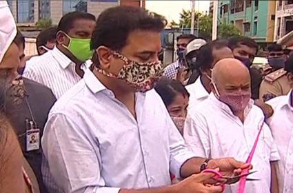 حیدرآباد میں بیرامل گوڑہ فلائی اوور کا وزیر کے تارک راما راو نے افتتاح کیا