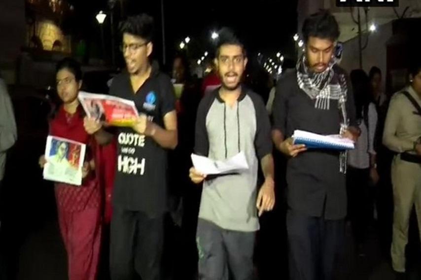 شہریت ترمیمی ایکٹ کے خلاف پریڈنسی یونیورسٹی کے طلباکا احتجاج