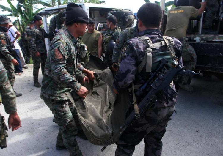 فلپائن میں باغیوں کے ساتھ جنگ میں بارہ فوجیوں کی موت