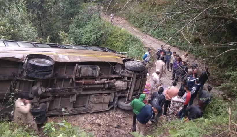 اتراکھنڈ: آئی ٹی بی پی کی بس کھائی میں گری، ایک جوان کی موت، 2 زخمی