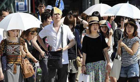 جاپان میں لو سے 23 افراد کی موت،12000داخل اسپتال