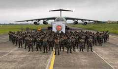 'مترشکتی' مشق میں حصہ لینے کے لئے فوجی دستہ سری لنکا روانہ