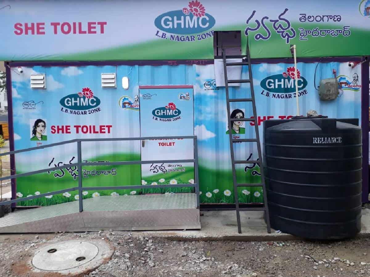 حیدرآباد میں نصب کردہ عصری بیت الخلا،کاروبار کے مراکز میں تبدیل