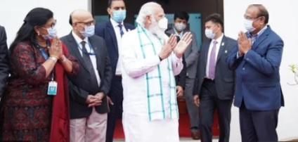 وزیراعظم نے حیدرآباد میں کورونا ٹیکہ کی تیاری کے مرحلہ کاجائزہ لیا،سائنسدانوں کو مبارکباد دی
