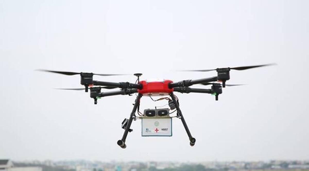 تلنگانہ:دواوں کی سپلائی کیلئے ڈرون کا استعمال