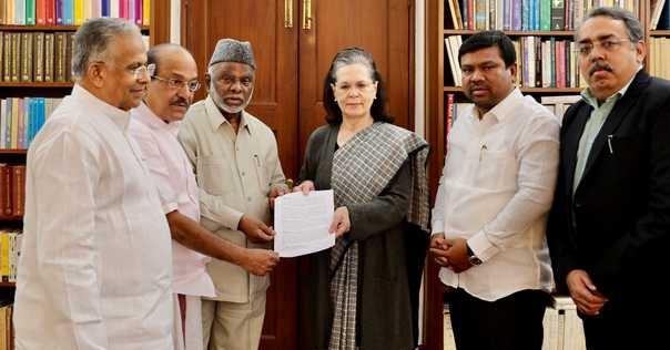 انڈین یونین مسلم لیگ کے وفد کی سونیا گاندھی سے ملاقات، قومی امور پر تبادلہ خیال