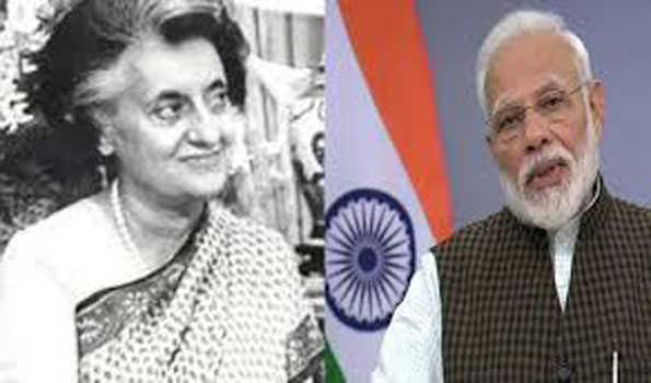وزیر اعظم نے اندرا گاندھی کو یاد کیا