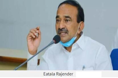 دہلی سے واپسی،تلنگانہ کے برطرف وزیر ای راجندر کا شاندار استقبال