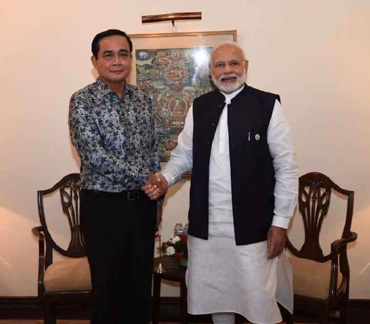مودی کی تھائی لینڈ کے وزیر اعظم سے ملاقات