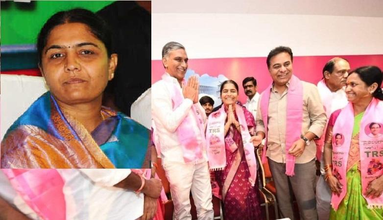 کانگریس پارٹی چھوڑ کر ٹی آر ایس میں شامل ہوئی سنیتا ریڈی