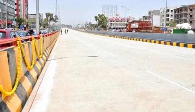 حیدرآباد میں انڈرپاس اور فلائی اوور کا افتتاح