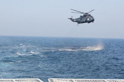 بحریہ ہیلی کاپٹر کی میدک ضلع میں ایمرجنسی لینڈنگ