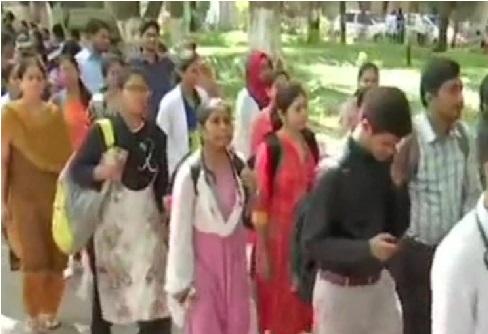 تلنگانہ جونیر ڈاکٹرس ایسوسی ایشن نے عثمانیہ جنرل اسپتال میں احتجاج کیا