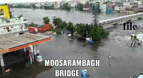 حیدرآباد: موسی رام باغ کا پل بند