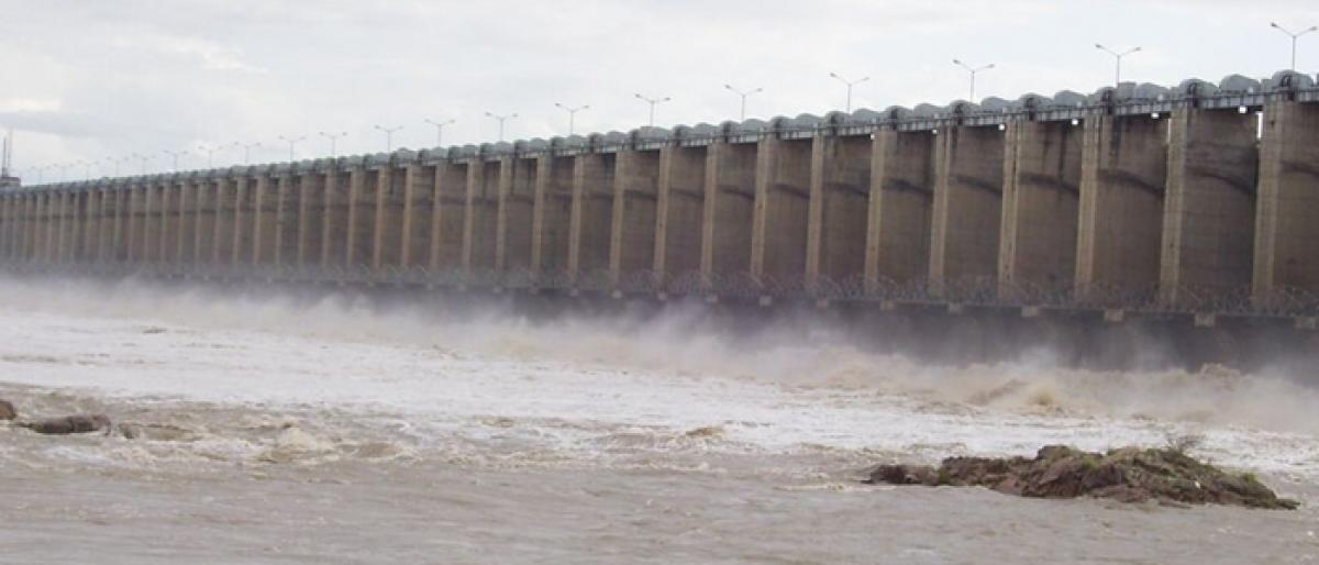 تلنگانہ کے جورالہ پروجیکٹ کی آبی سطح میں اضافہ
