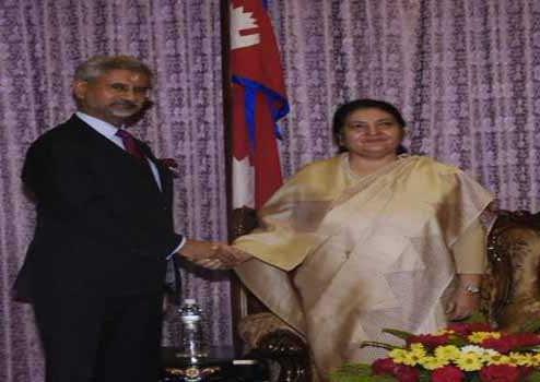 جے شنکر کی نیپال کی صدر سے ملاقات