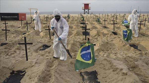 برازیل: ایک دن میں کورونا کے 69074 نئے معاملے