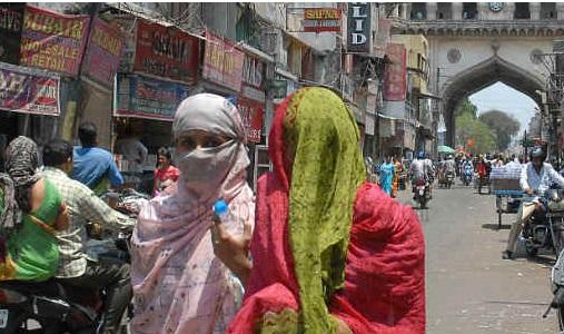 حیدرآباد میں درجہ حرارت 40 ڈگری سیلسیس کے قریب