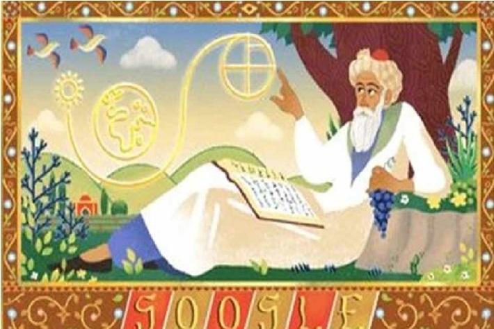 ایران کے ماہر ریاضی داں عمر خیام کو وقف گوگل کا ڈوڈل