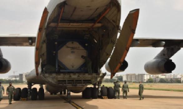 ہندوستانی فضائیہ کے جہازنے بنکاک سے تین کرائیوجینک آکسیجن ٹینکرس کو حیدرآباد پہنچایا