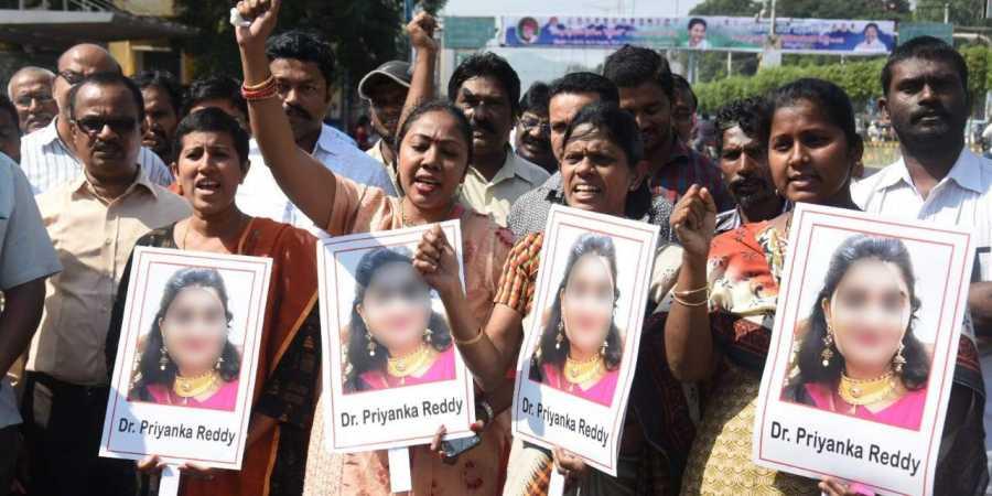 ڈاکٹر کی عصمت دری اور قتل۔شہر حیدرآباد میں مسلسل پانچویں دن بھی احتجاج