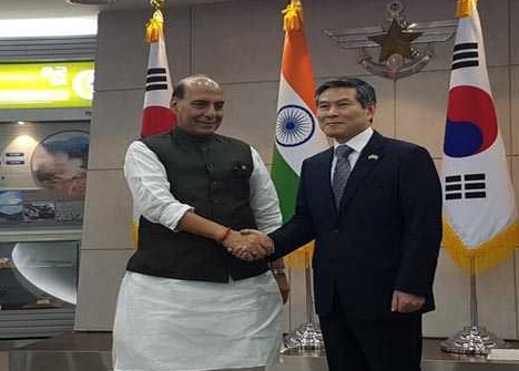 راج ناتھ اور جیونگ کیونگ نے باہمی دفاعی تعاون کا جائزہ لیا