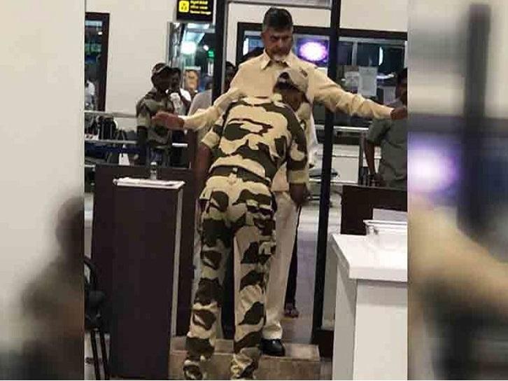 چندرابابو نائیڈو کو وجے واڑہ ایئرپورٹ پر نہیں ملی VIP سہولت