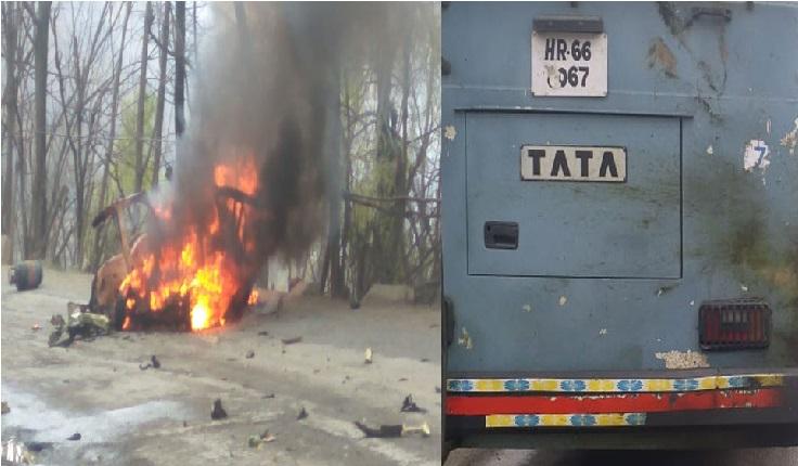 جموں کشمیر: جواہر ٹنل کے پاس سی آر پی ایف بس سے ٹکرائی کار، زوردار دھماکہ، ڈرائیور فرار