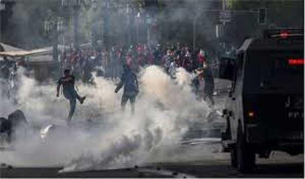 چلی میں تشدد سے 10 افراد کی موت